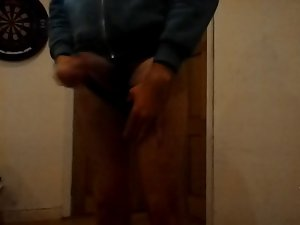 Double diaper wet. (wet panties)