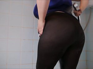Big Arsehole Dripping Spandex 3