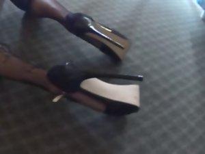 luscious transsexual heels and pinky panties