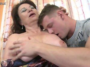 Lewd solid slutty mom bangs her son's best friend