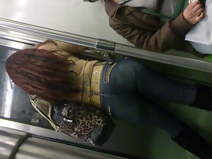 culo en el metro
