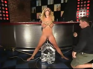 hirny top heavy blondie tied up and toyed