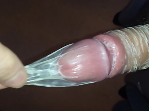 Bony Teenager Playing with Filthy Older Condom