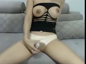 Cam Cutie With Sweet Knockers Strips And Bates