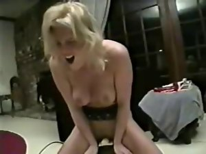 Beauteous Female delighting a ride on a Sybian