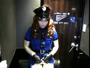 kigurumi wench police wanking
