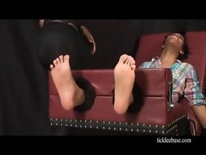 tickled lustful ebony