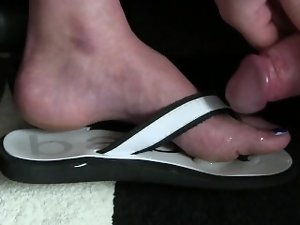 3 cumshot - sole, toe, shoe
