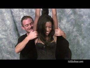 raunchy slutty ebony is ticklish