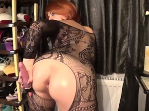 Attractive lady sucking,anal,stretching her stunning anal and playing with bushy vagina