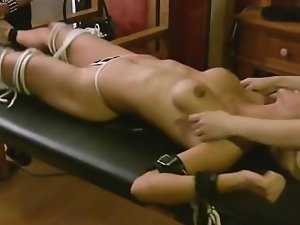 Extremely ticklish blond lass