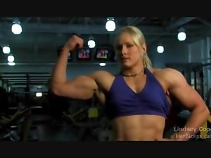 Lindsey C Light-haired Gym Muscle