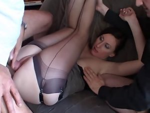 Group Sex - Attractive couple with a voyeur