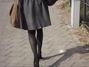 Office Lady Luscious Legs Walking