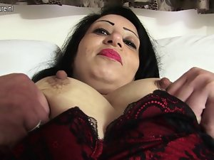 Attractive Arab hijab English Stepmom getting nude and raunchy