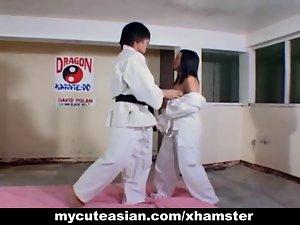 Filipina bitch banged brutal after karate