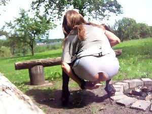 banging my pussy Outdoor