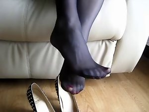 Shoe play in black nylon