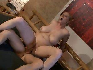 Kathleen White aka Nicole light-haired extremely large tits