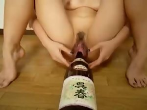 Filthy Bottle Insertion & Raw Gaping Twat