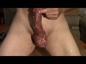 Extreme Wax and Whipping Cock, Ball and Stunning anal Torture