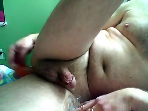 Prostate Massage and Milking with my favorite didlo