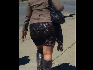 Lush Bum Naughty butt In A Skirt