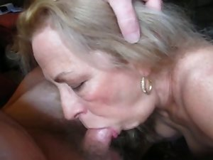 Aged Dirty wife With Wild Set of Knockers Licks My Dick