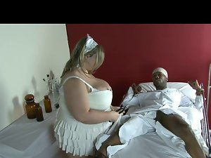 Fatty Light-haired Fetish-Slut accepts BBC in Hospital