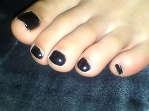 My Partners Juicy Feet With Black Polish