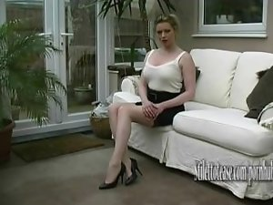 Filthy Filthy bitch talks about mens fetish for females in elegant tempting high heels