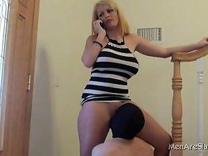 muff stroking slave