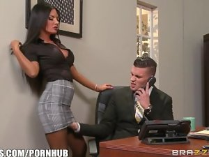 Brazzers - Elicia Solis gets some office banging