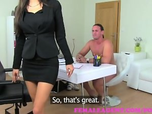FemaleAgent. A former agents fuck becomes this sexual Housewifes problem