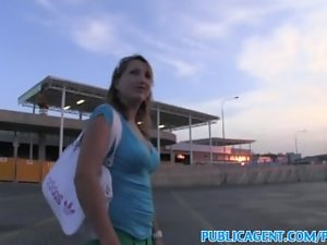 PublicAgent Blond has sex with stranger in public