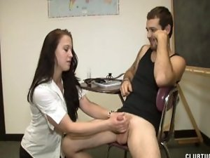 Teacher Punishes Student With A Milking
