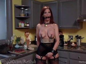 Redhead Cougar BDSM Slave Training
