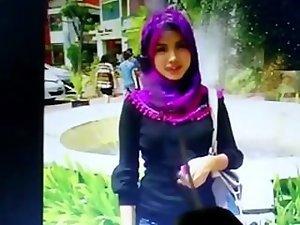 Cum tribute to a random angelic comely arabian hijab cutie 2