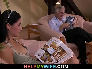 Cuckolding surprise for sensual slutty wife