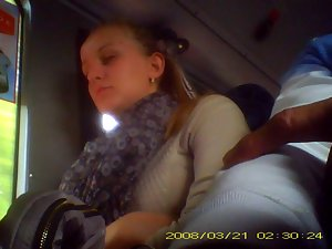 comely lass on the bus and my pecker
