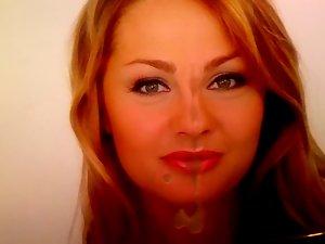 Polish actress Malgorzata Socha cum tribute