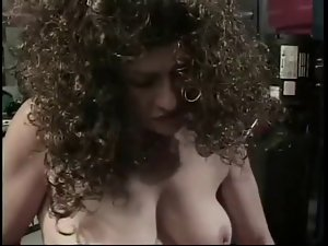 curly aged penetrated by her husband