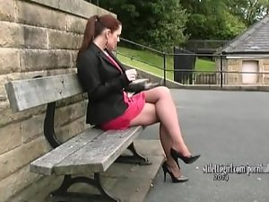 Come adore this comely ladies legs and high heels and deepen your fetish
