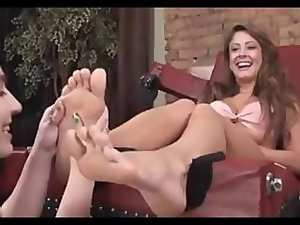 Nice looking Chick Gets Her Toes Stroked and Tickled