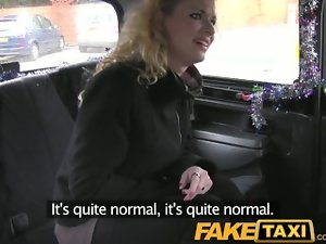 FakeTaxi Curly hair light-haired accepts it from behind in taxi