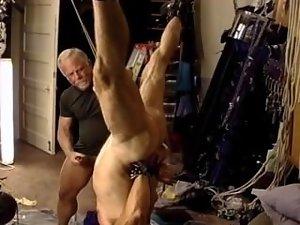 I fuck Jim with a dildo,bash his balls.