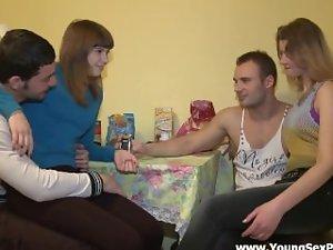 Rus home orgy