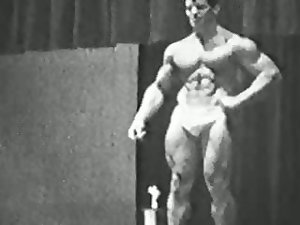 John Corvello, early Playgirl actress in bodybuilding clip from the 60's