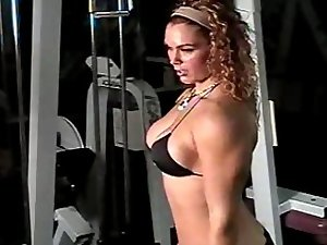 April Kohler bicep curls