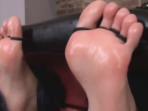 Toetied and Baby Oil Tickle